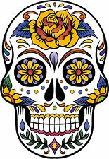 NEW SUGAR SKULL,WALL,CAR,VAN BUMPER,WINDOW DECAL  STICKER.