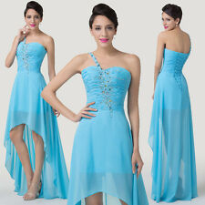 UK Formal High Low Evening Party Prom BridesMaid Gown Homecoming Wedding Dresses
