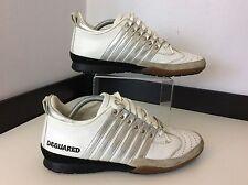 Dsquared 2 Ds2 Hombre Cuero Blanco Entrenadores,, Reino Unido 5, Eu39, Zapatillas, Zapatos, en muy buena condición
