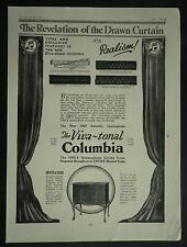 New Columbia Viva Tonal Gramaphone 1927 Page Ad Advertisement 6722