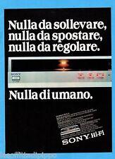 QUATTROR982-PUBBLICITA'/ADVERTISING-1982- SONY HI-FI PS-FL-3 GIRADISCHI