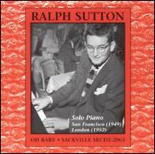 Oh Baby-Solo Piano - Ralph Sutton (2004, CD NEUF)