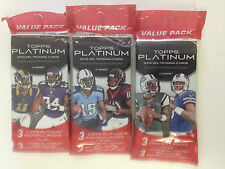 2013 TOPPS PLATINUM NFL FOOTBALL VALUE PACK  ( 3 PACK LOT )