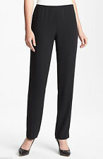 SZ PS EILEEN FISHER BLACK TROPICAL SUITING WITH ECO POLY SLIM PANT WITH SIDE ZIP
