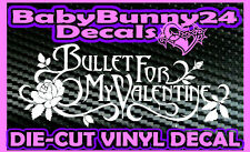 Bullet For My Valentine B Flower band Logo Laptop Truck Car Decal Vinyl Sticker