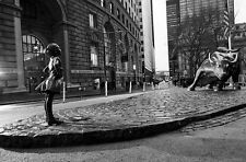 *PICTURE* of The Fearless Girl statue in Wall Street, New York