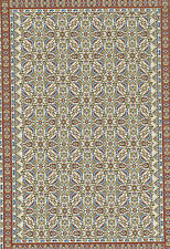 "Beautiful Dollshouse Dolls House Miniature Large Woven Turkish Carpet 8"" x 12"""