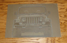 Original 2002 Jeep Wrangler Deluxe Sales Brochure 02