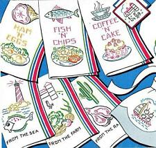Hand Embroidery Transfer 259 Sayings for Kitchen Towels Ham n Eggs Fish n Chips