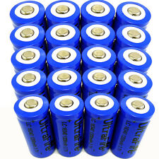 20pcs 16340 Batteries CR123A LR123A 3.7V 1200mAh Rechargeable Li-Ion Battery USA