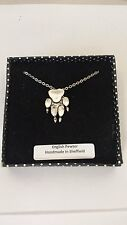 A67 Paw Print english pewter 3D Platinum Necklace Handmade 18 INCH