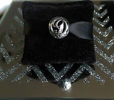 Genuine Pandora Silver Vintage Letter G Swirl Charm With Pandora Gift Pouch