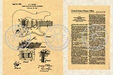 FENDER STRATOCASTER Guitar Patent Strat 56 Tremolo #743