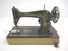 Vintage Singer Sewing Machine Model 66  1922  Electric Portable Tabletop
