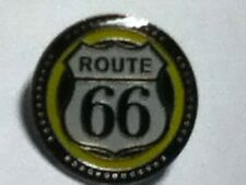 ROUTE 66 ROUND LAPEL PIN HAT TAC NEW