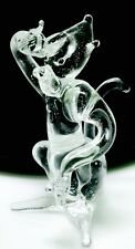 Monkey Crystal Glass Wild Animal Figurine Clear Hand Crafts Gift Art Collectible