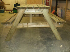 New hand made pressure treated patio garden pub picnic bench seat