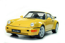 PORSCHE 964 TURBO DIE CAST MODEL 1/18 YELLOW BY WELLY 18026  NEW