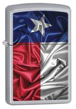 Zippo 7139 State of Texas Flag Street Chrome Full Size Lighter