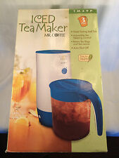 Mr. Coffee TM39P Fresh Iced Tea Maker, 3-Quart, Blue Color NEW In BOX!!!!!!!!!!!