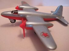 Awesome Antique Plastic Toy Airplane Martin B-26 Marauder Hubley 1946 RARE as is