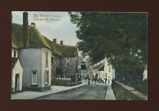 Devon CHAGFORD The Three Crowns & street scene pre1919 PPC
