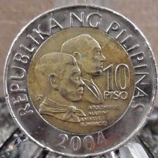 CIRCULATED 2004 10 PISO PHILIPPINES COIN (040617)1