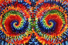 "4'3""x6'6"" Area RUG Abstract Contemporary  Color Spectrum Tie Dye Time New    5x7"