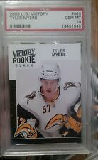 TYLER MYERS GRADED BLACK ROOKIE 23-CARD LOT!! 2009-10 UPPER DECK VICTORY #303