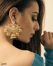 Kundan Chandbali Earrings Jhumka Chandelier Indian Wedding Jewelry Accessory J19