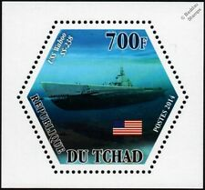 WWII USS WAHOO (SS-238) US Navy Gato-Class Submarine Warship Stamp