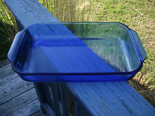 PYREX 3 QUART CASSEROLE BAKING DISH BLUE COLBALT COLOR MADE IN USA # 233