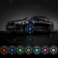 4 Mode 16 LED Car Solar Energy Flash Wheel Tire Neon Light + Remote Control UK