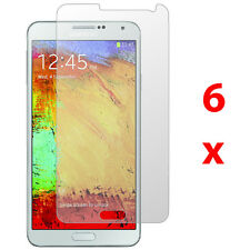6 Clear Screen Protector Skin Cover Guard For Samsung Galaxy Note 3 III N9000