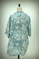 HUK A POO Button Down Shirt Vintage 1980s Resort Lightweight Silk Large