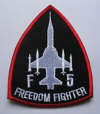 F-5 FREEDOM FIGHTER TIGER II Black Embroidered Iron on Patch + Free Shipping
