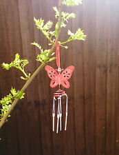 Metal Butterfly Wind Chime Hanging Outdoor Decoration Animal Garden Ornaments