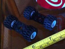 LEGO Lego Black Base 2x2 Grey Wheel x 2 Car Vehicle Spare 4 Wheels in Total
