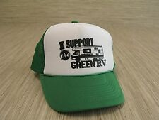 """Trucker Hat """"I Support The Green RV"""" White Green Snap Back Adjustable Cap Nissun"""