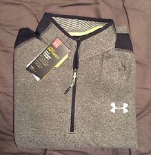 UA Men's ColdGear Infrared Fleece 1/4 Zip Pullover 1259826 Black Under Armour M
