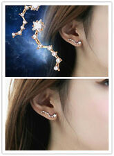 Fashion Cool Gold Plated Korea Big Dipper Crystal Lady Party Earrings