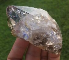 Gem Rainbow Herkimer Diamond Smoky Quartz Crystal Point Botryoidal Anthraxolite