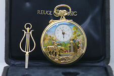 VINTAGE REUGE MUSIC BOX AUTOMATON MUSICAL ALARM POCKET WATCH SAINTE CROIX