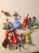 Lot of 10 Disney PVC Figures / Cake Toppers - Aladdin Mermaid And More