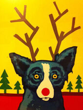 """Blue Dog George Rodrigue      """"Truly Rudy""""   Silkscreen  Poster     MAKE  OFFER"""
