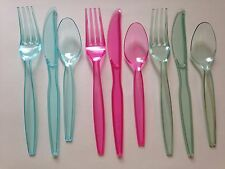 Plastic Cutlery Set 24 x Knifes, Forks, Spoons, 72 Pieces, Wedding, Party ,Event