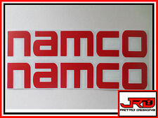2 x Namco Vinyl Stickers in Red