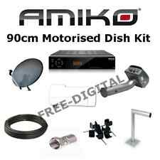 Amiko Motorised Satellite System Kit - Includes HD 8150, 100cm Dish, LNB, Mount