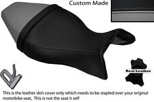 BLACK & GREY CUSTOM FITS BUELL X1 LIGHTNING 1200 98-02 LEATHER DUAL SEAT COVER