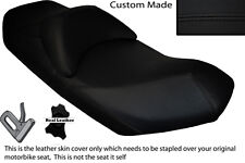 BLACK STITCH CUSTOM 07-13 FITS SUZUKI AN 400 BURGMAN LEATHER DUAL SEAT COVER